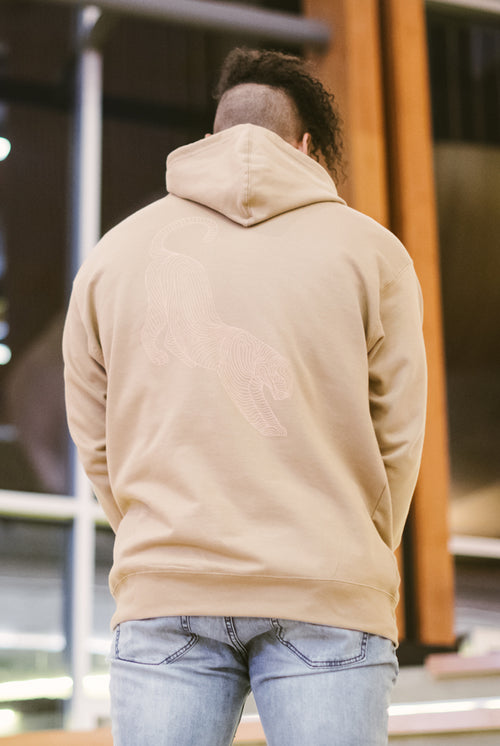 Instinct Vol. 1 Cross Contour Tan Hooded Sweatshirt