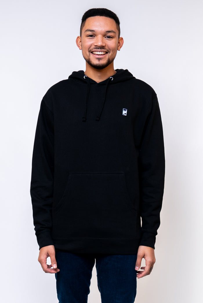 Black Box Logo Hooded Sweatshirt