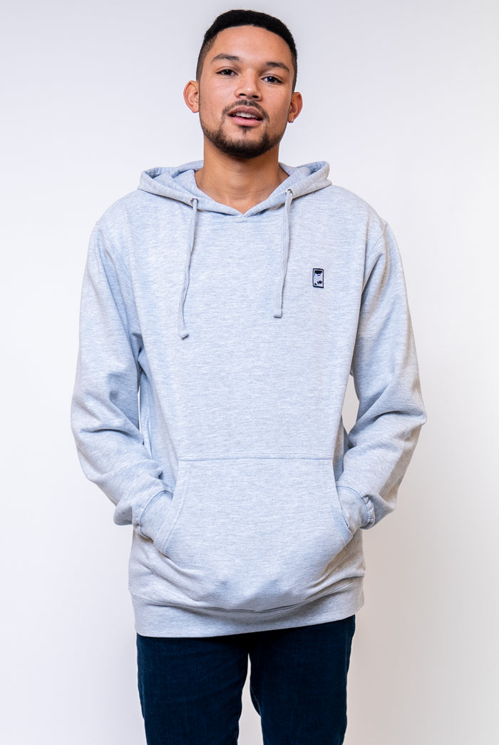 Grey Box Logo Hooded Sweatshirt