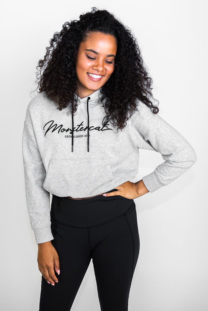 Monstercat Script Cropped Hoodie