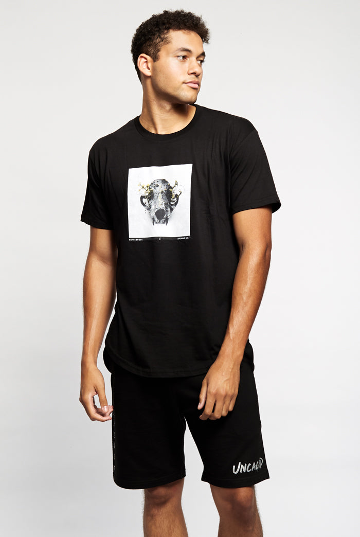 Uncaged Vol. 7 Carbon Scoop Tee