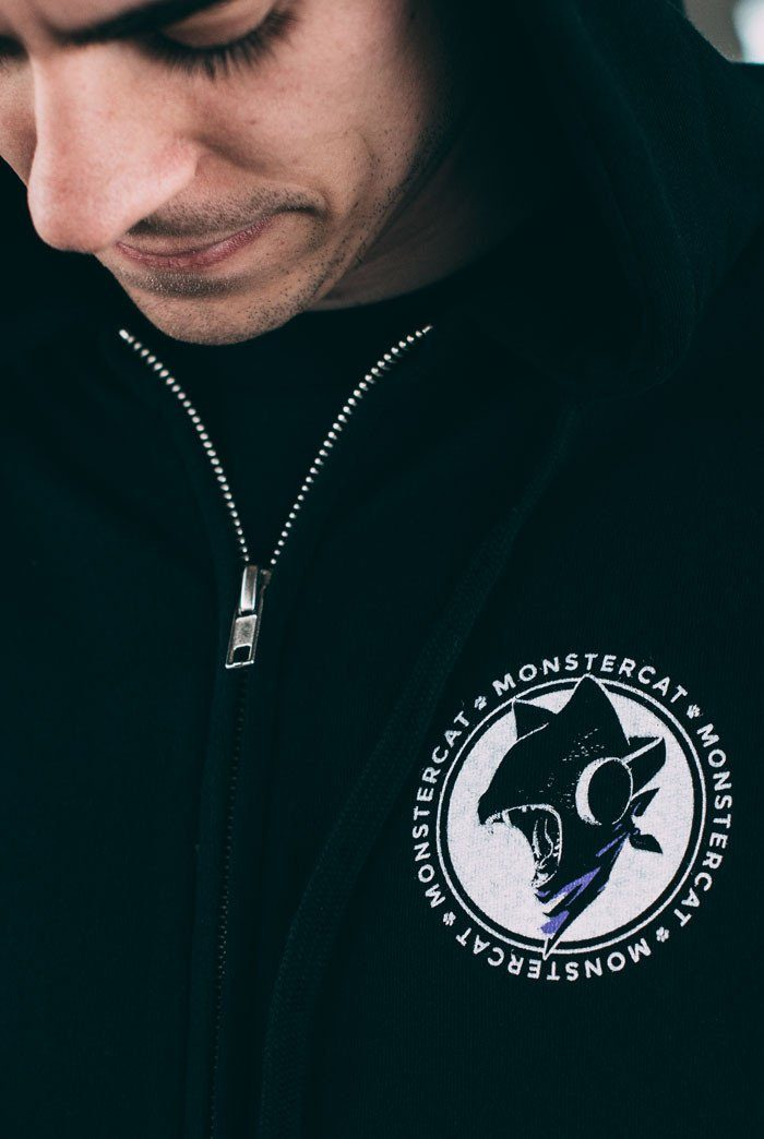 Monstercat Uncaged Hoodie Front Model