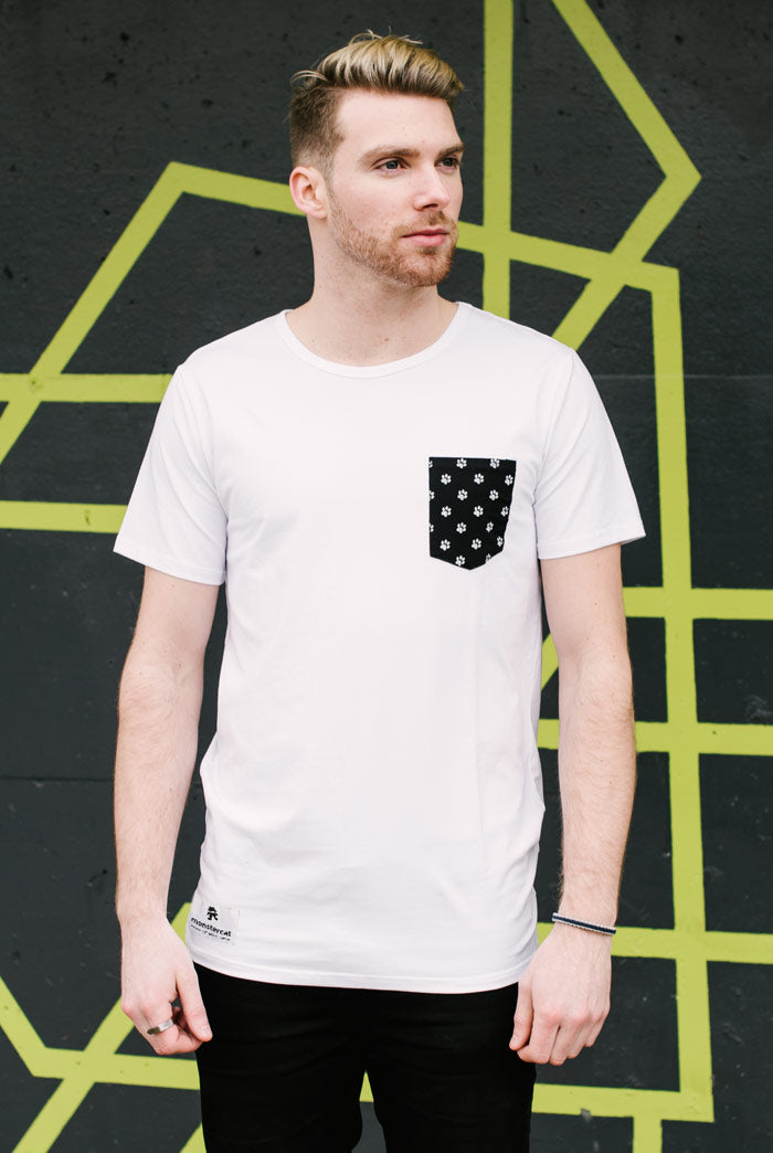 Renfrew Tee Paws Pocket T-shirt White Monstercat Shop Apparel Merchandise