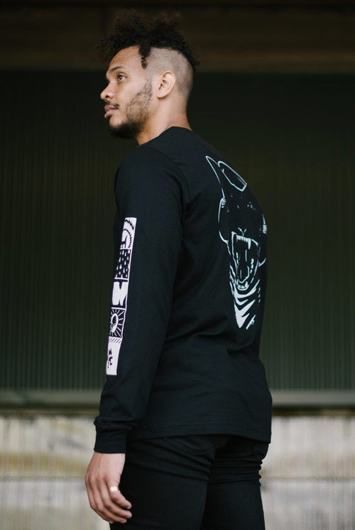 Uncaged 02 Long Sleeve Tee (Black)