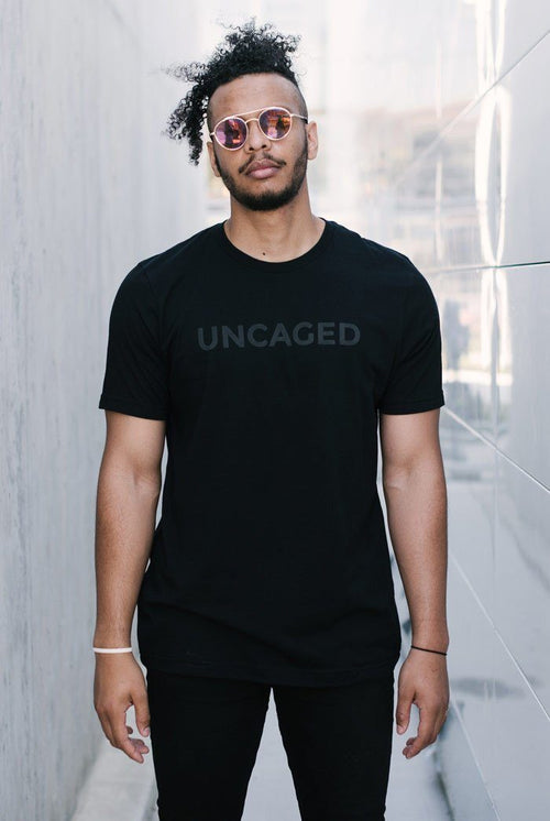Uncaged 02 Text Tee (Black)
