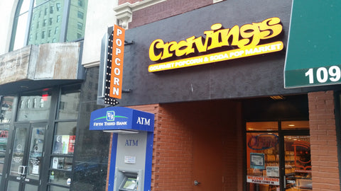 Cravings Popcorn Downtown Lansing, Michigan