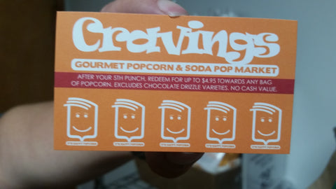 Cravings Popcorn Crave Card