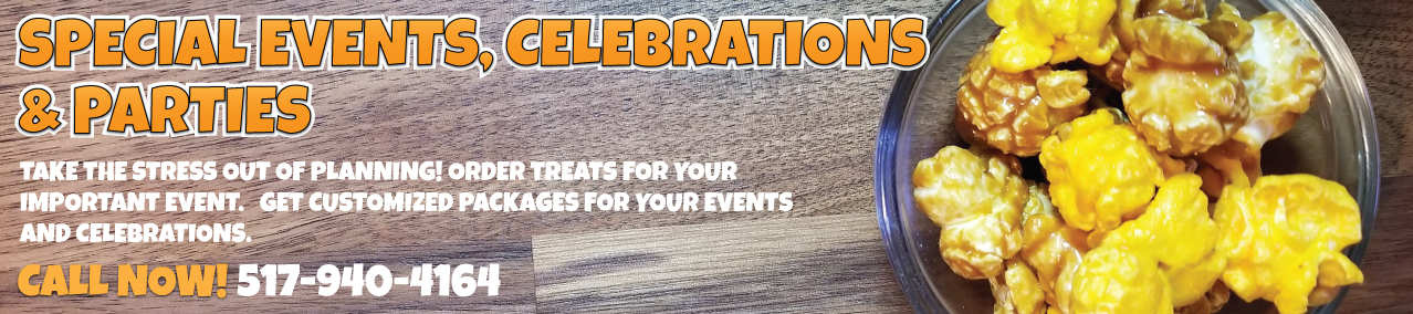 SPECIAL EVENTS, CELEBRATIONS AND PARTIES
