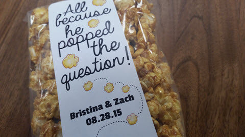 popcorn for weddings, special events, parties