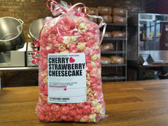 cherry strawberry cheesecake popcorn cravings