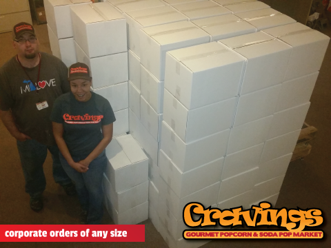 Cravings Popcorn corporate orders of any size