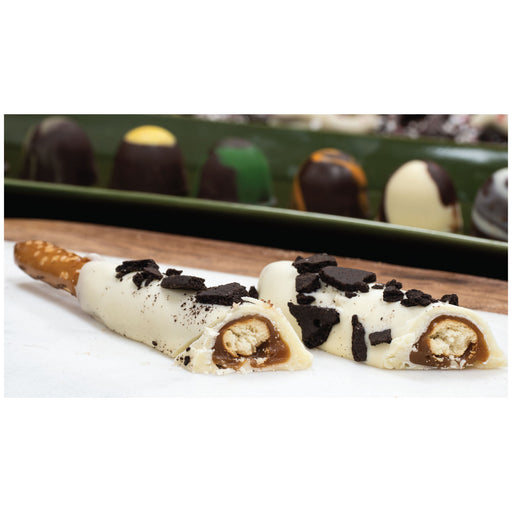 DEBBAS WHITE CHOCOLATE PRETZEL RODS