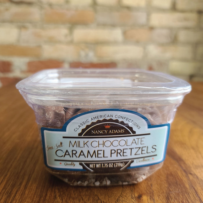 MILK CHOCOLATE SEA SALT CARAMEL PRETZELS