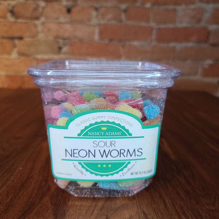 Nancy Adams Sour Neon Worms