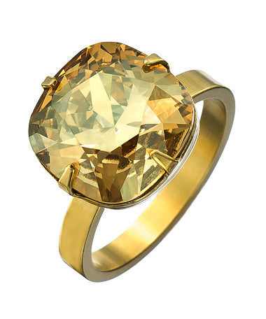 Golden Shadow Crystal Ring