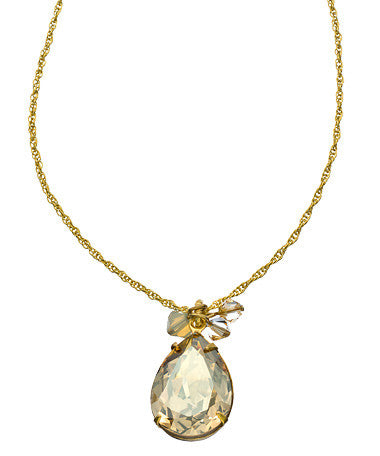 Topaz Tear Drop Necklace