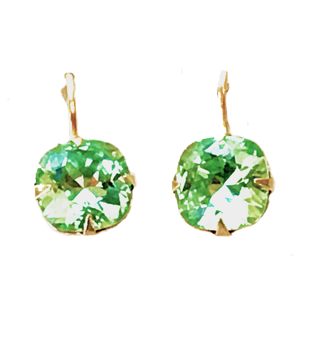 Green 10MM Earrings