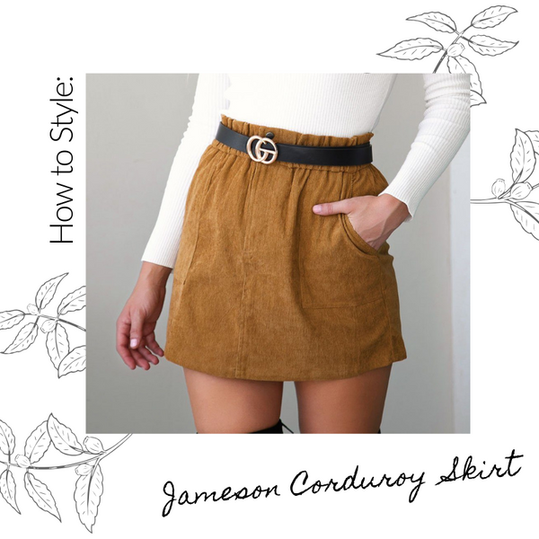 How To Style the Jameson Corduroy Skirt | Priceless