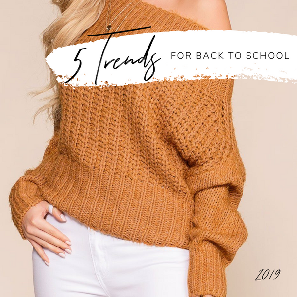 5 Trends for Back to School 2019 | Priceless