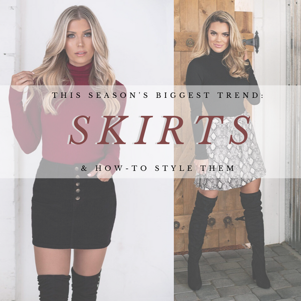 Why Skirt Outfits Are The Biggest Trend This Winter | Priceless