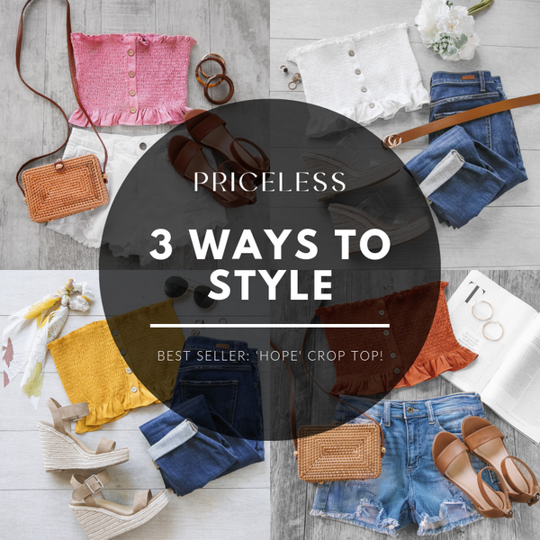 Crop Top Style: 3 Ways to Wear the 'Hope Crop Top' | Priceless