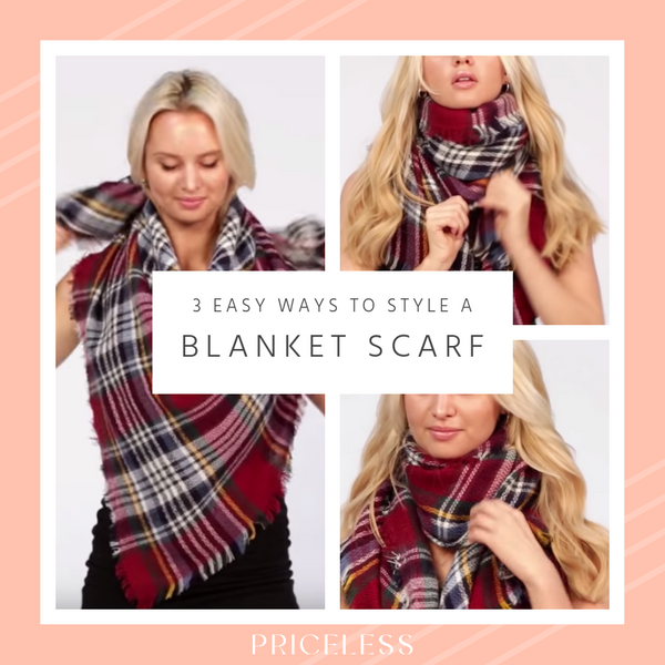 3 Easy Ways to Style a Blanket Scarf for Fall & Winter | Priceless