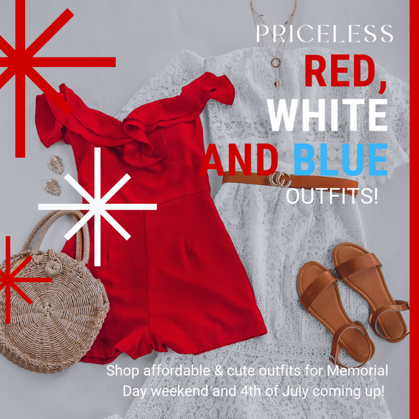 It's a Party in the USA! | Red, White and Blue Outfits | Priceless