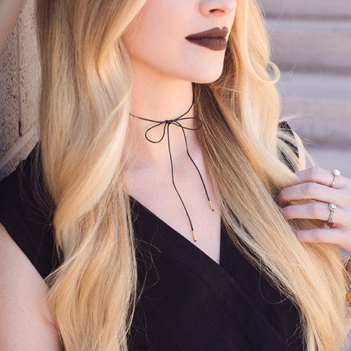 DIY: Suede/Leather Wrap Bolo Necklaces