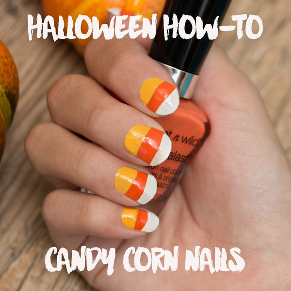 Halloween How-To: Candy Corn Nails