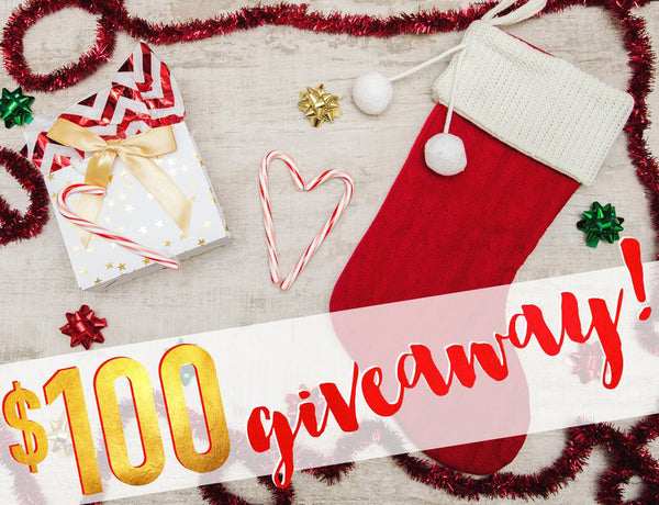 CLOSED - $100 Holiday Giveaway