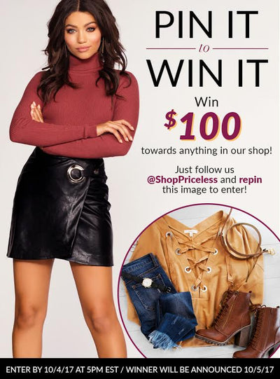 Pin To Win A $100 Gift Card!