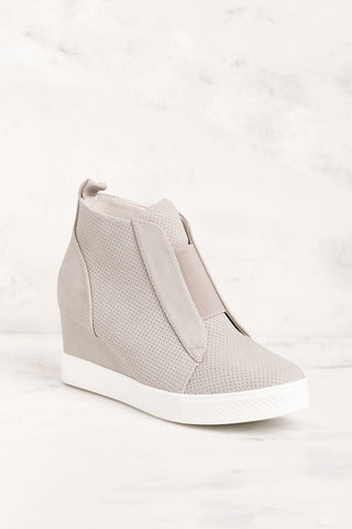 Grey Slip On Wedge Sneaker