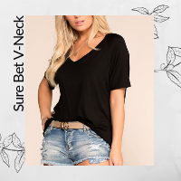 Womens Black Comfy T-Shirt