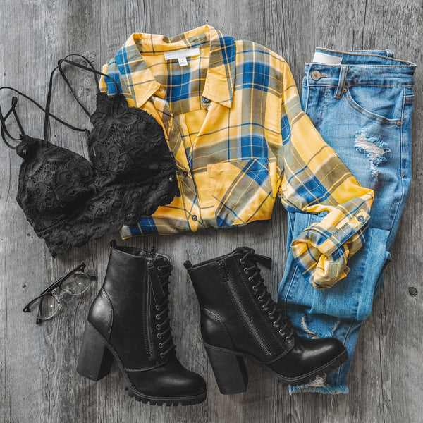 Fall Flannel Outfits