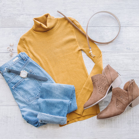 Charleston Mustard Turtleneck
