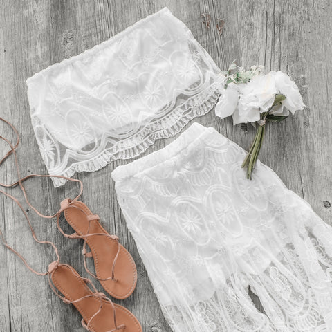 Lace Set | White | Vacay Look | Womens