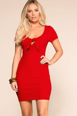 Womens Red Bodycon