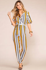 Striped Jumpsuit Work Look