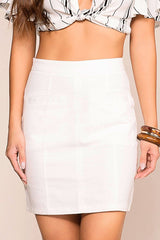 White Pencil Skirt Work Looks
