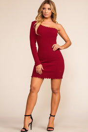 Rib Me Right Dress - Burgundy | Better Be