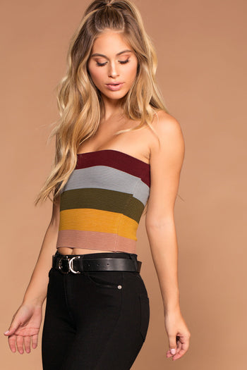 Lifeline Stripe Knit Bandeau | Shop Priceless