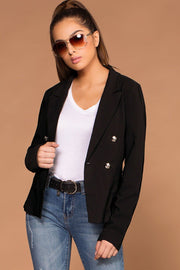 On Top Black Blazer | Must have