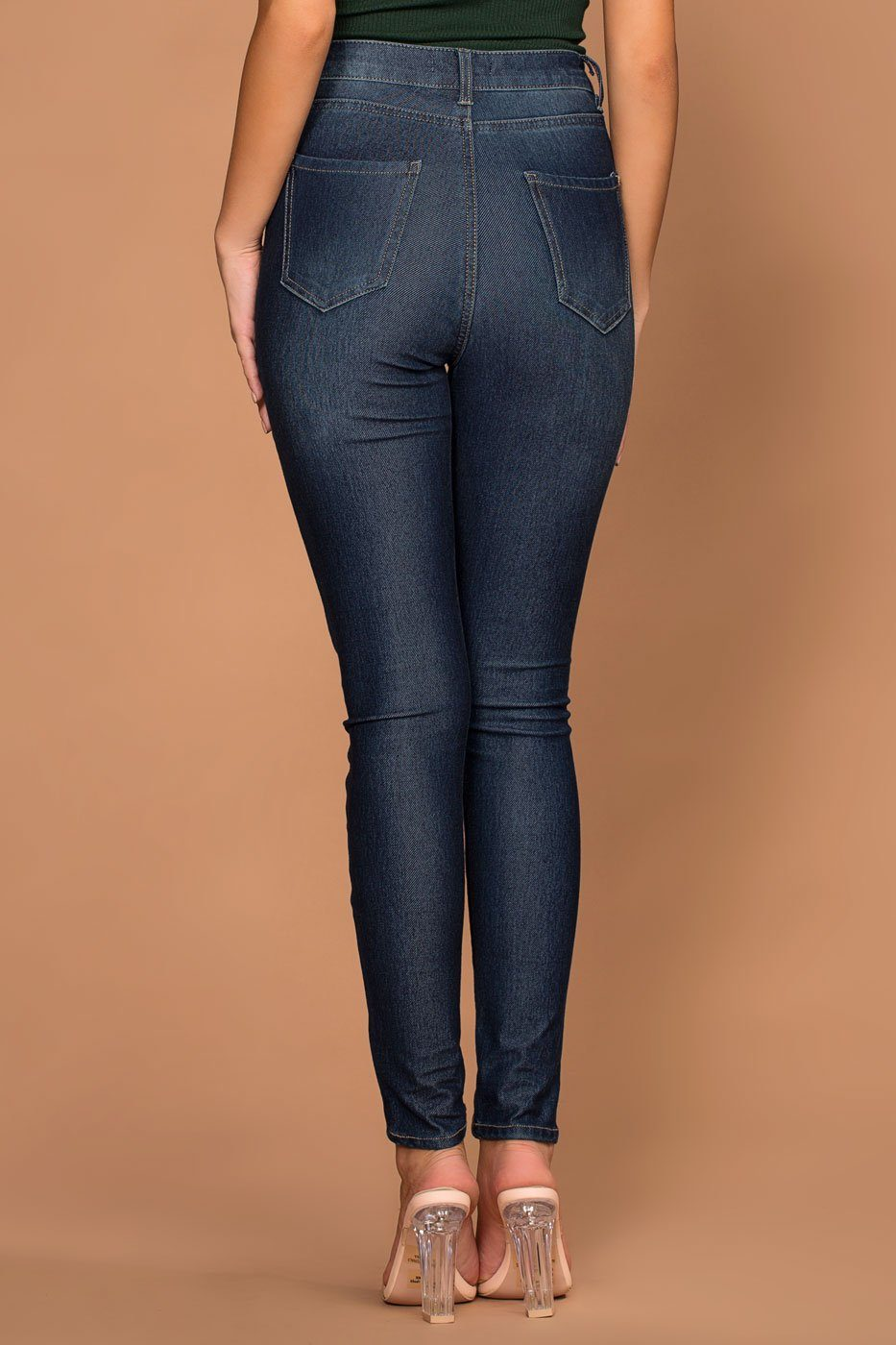 Liberty Dark Wash High Waisted Jeggings