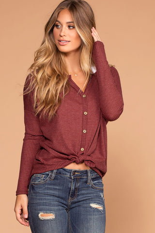 Wonder Girl Sweater - Burgundy