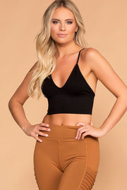 Priceless | Black | V-Neck Crop Top | Womens