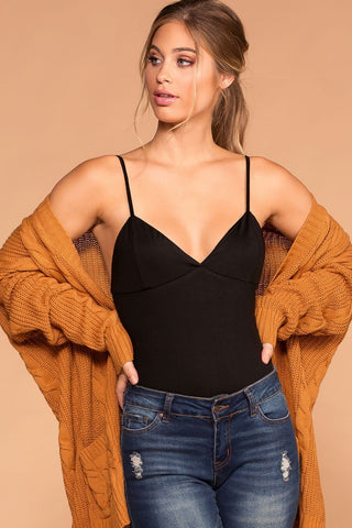 BB Taupe Square Bodysuit