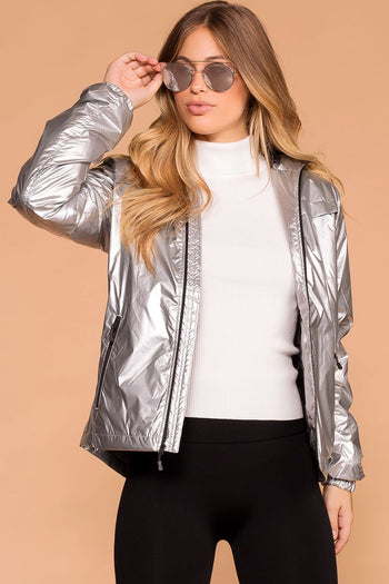 On The Slopes Silver Reflective Jacket | Shop Priceless