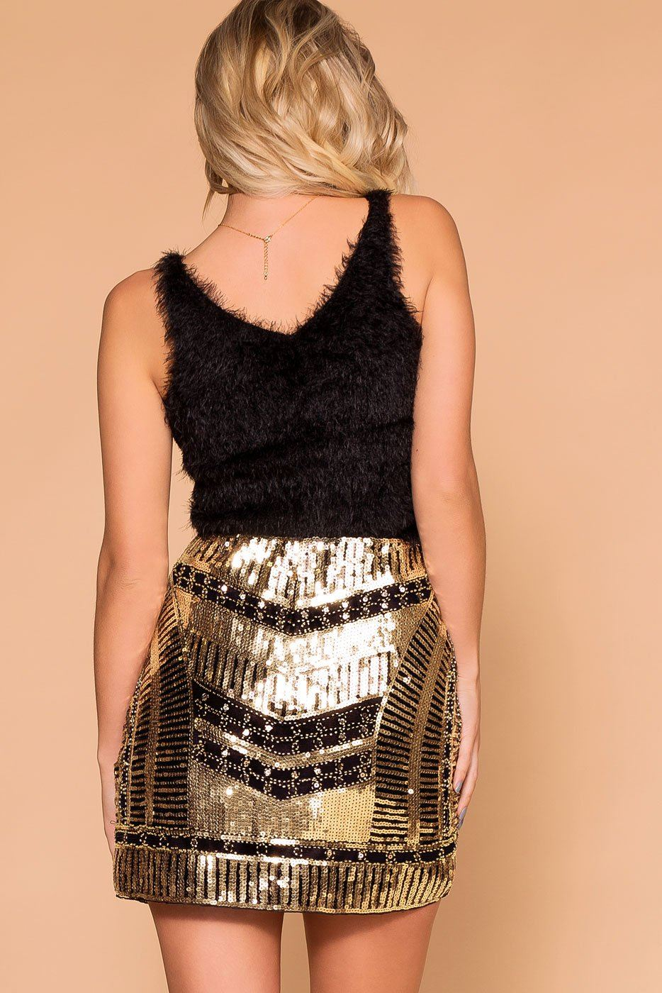 Priceless | Gold Sequin | Black Sequin | Mini Skirt | Womens