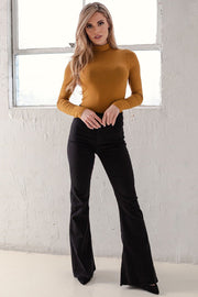 Dark Mustard Turtleneck Bodysuit