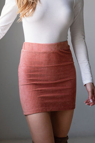 Indy Mustard Stripe Mini Skirt